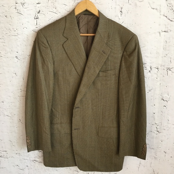 Canali Other - CANALI GREEN BROWN BLAZER 54